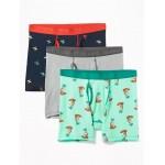 Soft-Washed Built-In Flex Boxer Briefs 3-Pack for Men