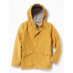 Water-Resistant Hooded Rain Jacket for Boys