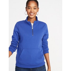 French-Terry 1/4-Zip Pullover for Women