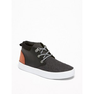 Color-Blocked Wool-BlendFaux-Leather Sneakers for Boys