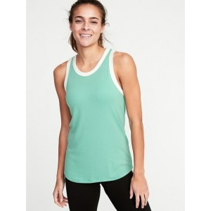 Slim-Fit Rib-Knit Racerback Tank for women