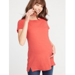 Maternity Slub-Knit Tunic Tee