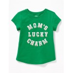 St. Patrick's Day Graphic Tee for Toddler Girls