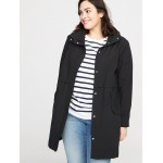 Hooded Plus-Size Anorak