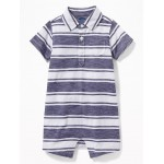 Striped Polo One-Piece for Baby