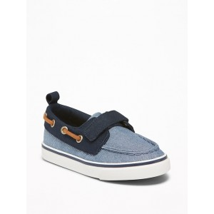 Canvas Secure-Strap Boat Shoes For Toddler Boys