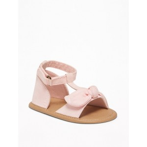 Faux-Suede Bow-Tie Sandals for Baby