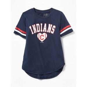 MLB&#174 Team-Graphic Sleeve-Stripe Tee for Girls