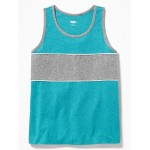 Color-Blocked Piped-Trim Tank for Boys