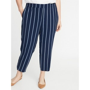Mid-Rise Secret-Slim Pockets Plus-Size Trousers