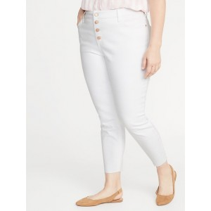 High-Rise Secret-Slim Pockets Plus-Size Button-Fly Cropped Rockstar Jeans