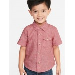 Linen-Blend Chest-Pocket Shirt for Toddler Boys