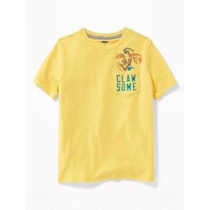 Graphic Slub-Knit Pocket Tee for Boys