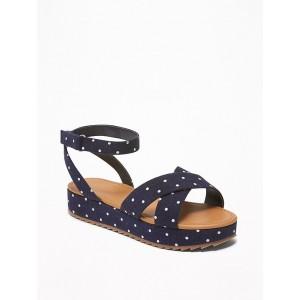 Polka-Dot Platform Sandals for Girls