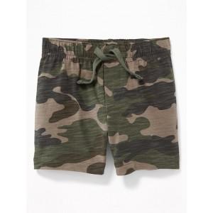 Slub-Knit Camo Shorts for Baby