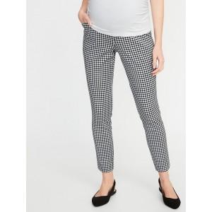 Maternity Full-Panel Patterned Pixie Pants