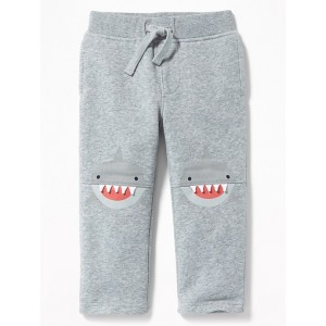 Functional Drawstring Critter Pants for Toddler Boys