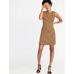 Printed Ponte-Knit Sheath Dress for Women