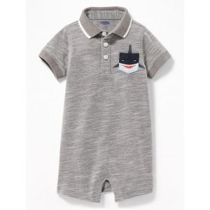 Pique Polo Pocket One-Piece for Baby