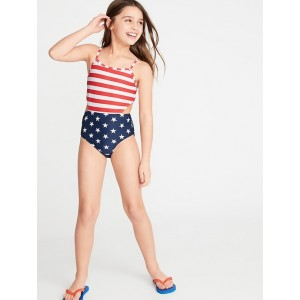 Side-Cutout Swimsuit for Girls