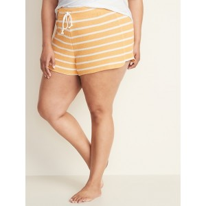 Striped French Terry Plus-Size Cali Fleece Shorts  3.5-inch inseam