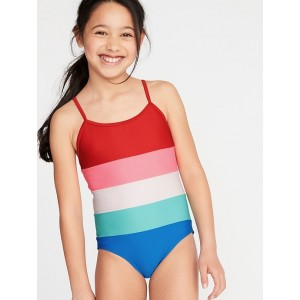 Color-Blocked Swimsuit for Girls