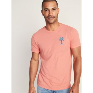 Soft-Washed Graphic Tee for Men