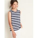 Striped Hi-Lo Hem Muscle Tank for Girls