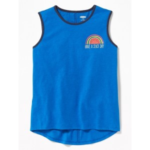 Graphic Hi-Lo Hem Muscle Tank for Girls
