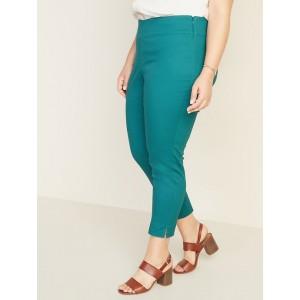 High-Rise Side-Zip Plus-Size Pants