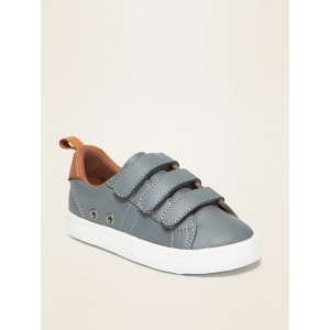 Faux-Leather Triple-Strap Sneakers for Toddler Boys