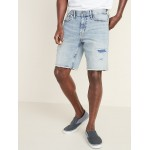 Slim Built-In Flex Distressed Denim Cut-Off Shorts for Men