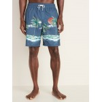 Printed Swim Trunks for Men - 8-inch inseam