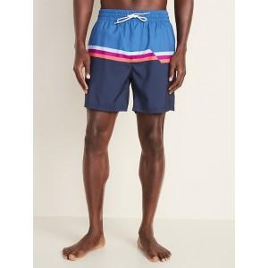 Printed Swim Trunks for Men - 6-inch inseam