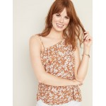 Ruffled Linen-Blend One-Shoulder Top for Women