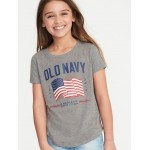 2019 Flag Graphic Tee for Girls