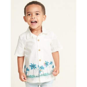 Printed Getaway Shirt for Toddler Boys