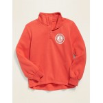 Logo-Graphic 1/4-Zip Pullover for Girls
