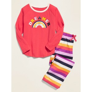 Graphic Jersey Sleep Set for Girls
