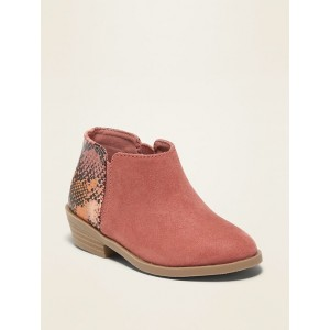 Faux-Suede Ankle Boots for Toddler Girls