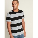Soft-Washed Bold-Stripe Tee for Men