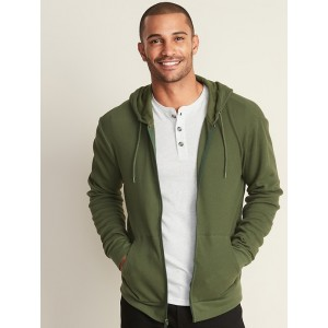 Soft-Washed Thermal Zip Hoodie for Men