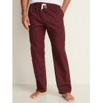 Printed Poplin Sleep Pants for Men