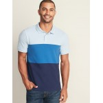 Color-Blocked Built-In Flex Moisture-Wicking Pro Polo for Men