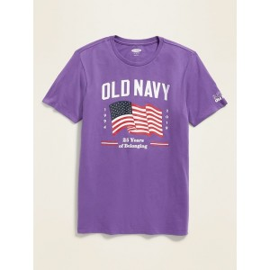 Limited Edition Old Navy 25th Anniversary Flag Tee for Adults