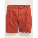 Built-In Flex Straight Twill Shorts for Boys