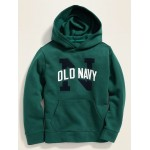 Relaxed Logo-Graphic Pull-Over Hoodie for Boys