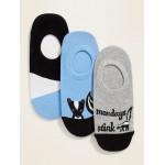 Novelty No-Show Sneaker Socks 3-Pack for Women