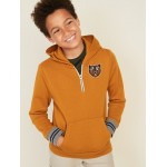 Animal-Graphic 1/4-Zip Hoodie for Boys