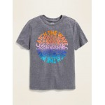 Relaxed Graphic Crew-Neck Tee for Boys